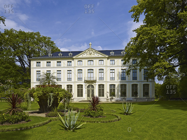August 22, 2014: Summer palace in the park of Greiz, Thuringia, Germany