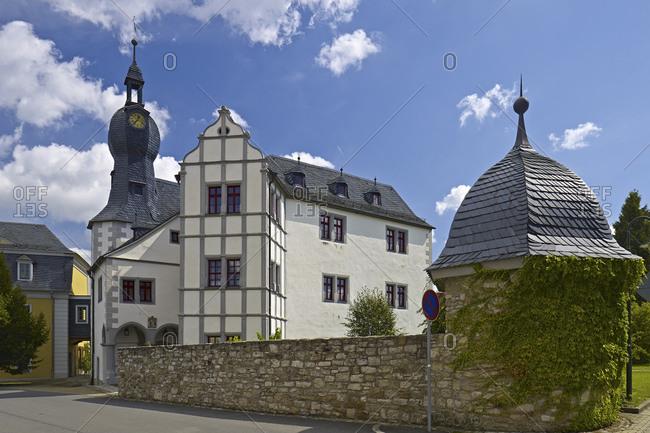 August 20, 2014: Nimritz Castle near Poessneck, Thuringia, Germany