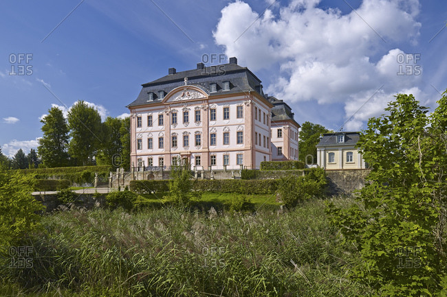 August 20, 2014: Oppurg Castle near Poessneck, Thuringia, Germany
