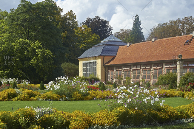 Orangery from Belvedere Palace near Weimar, Thuringia, Germany