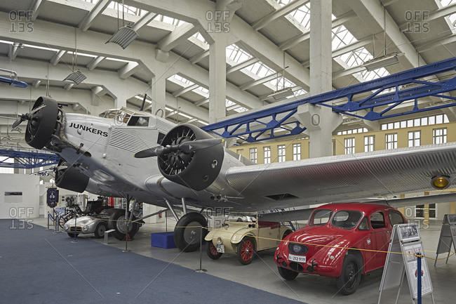 October 7, 2014: Technology museum Hugo Junkers in Dessau, Saxony-Anhalt, Germany