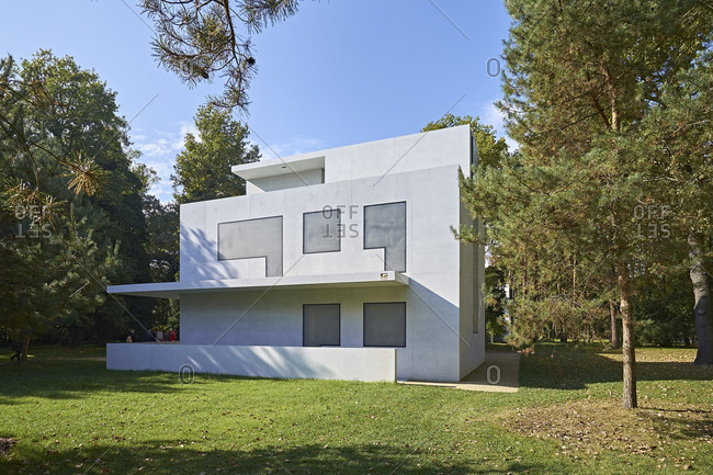 October 7, 2014: Moholy-Nagy House, Masters' Houses in Dessau-Rosslau, Saxony-Anhalt, Germany