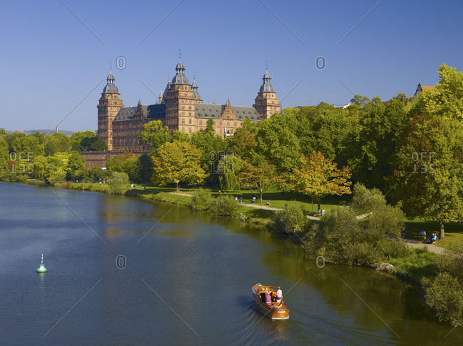 October 4, 2014: Johannisburg Castle on the banks of the Main, Aschaffenburg, Lower Franconia, Bavaria, Germany
