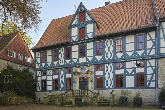 October 19, 2014: Lodge house in Hildesheim, Lower Saxony, Germany