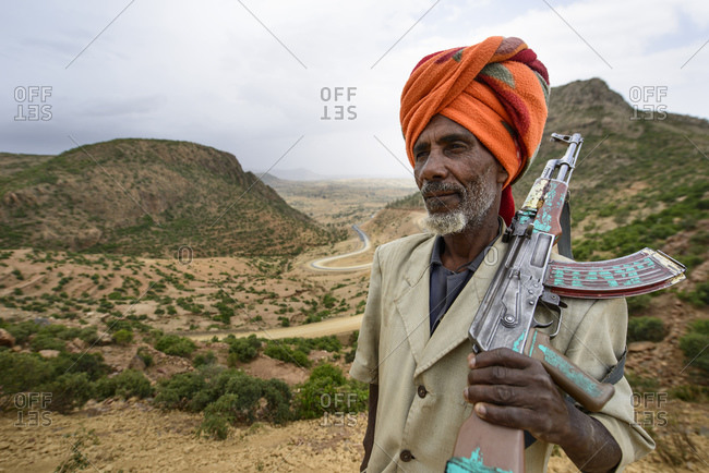 June 25, 2014: Villagers voluntarily protect their territory from bandit attacks, Simien Mountains, Ethiopia
