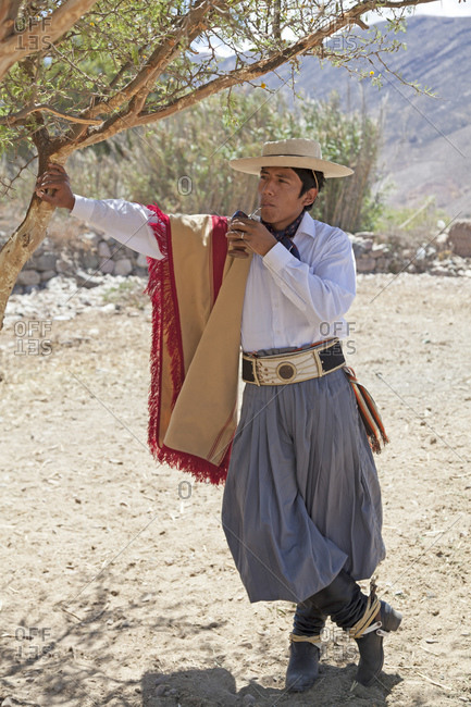 October 20, 2011: Gaucho in Tilcara, Andes, Argentina, South America