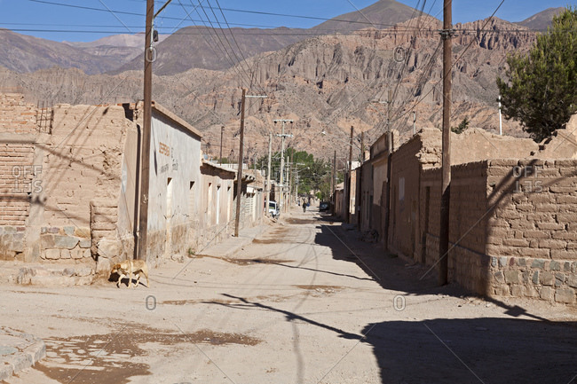 Adobe Houses in Tilcara, Argentina, South America