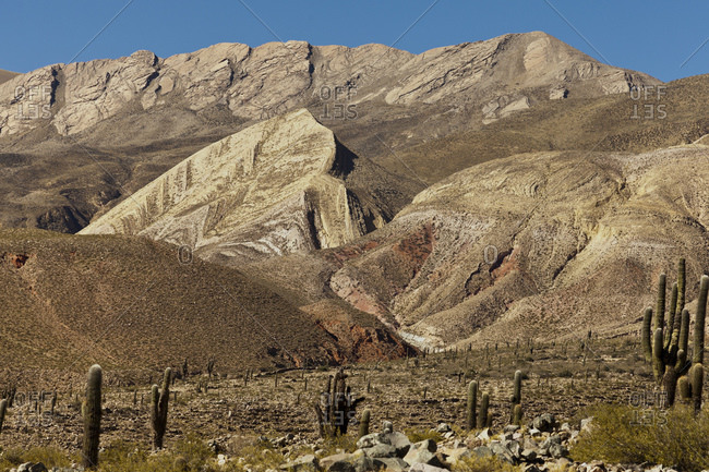 Typical Andean landscape, Tilcara, Jujuy Province, Argentina, South America