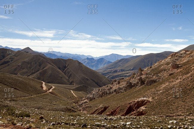 Breathtaking landscape of the Andes, Iruya, Salta Province, Argentina, South America