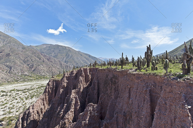 Landscape near the mountain village of Juella, Jujuy Province, Argentina, South America
