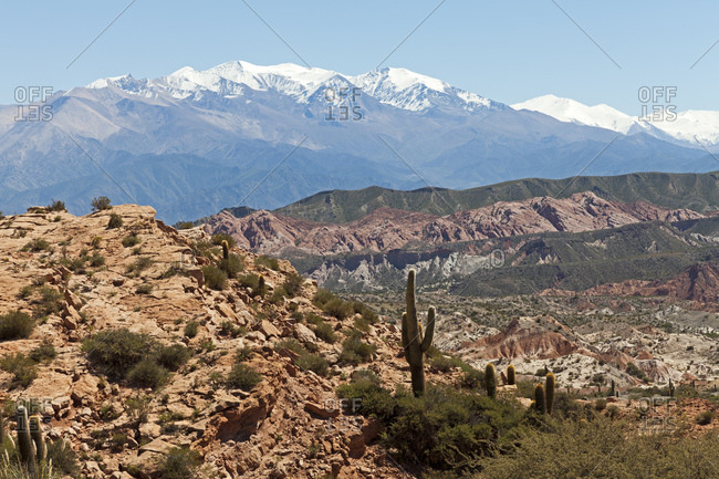 Typical Andean landscape around the village of Cachi, Salta province, Argentina, South America