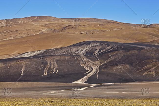 Lithium deposits in the Puna Desert, Catamarca Province, Argentina, South America