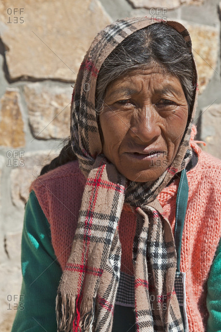 September 10, 2011: Portrait of a local woman, Jujuy Province, Argentina, South America