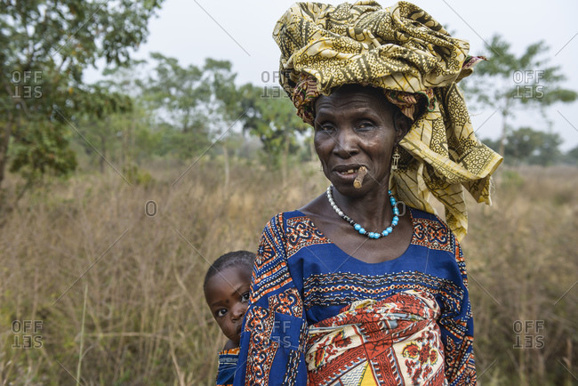 December 5, 2015: Indigenous woman of northern Benin, Africa