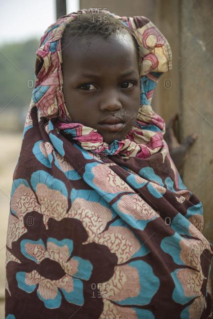 December 5, 2015: Girls from northern Benin, Africa