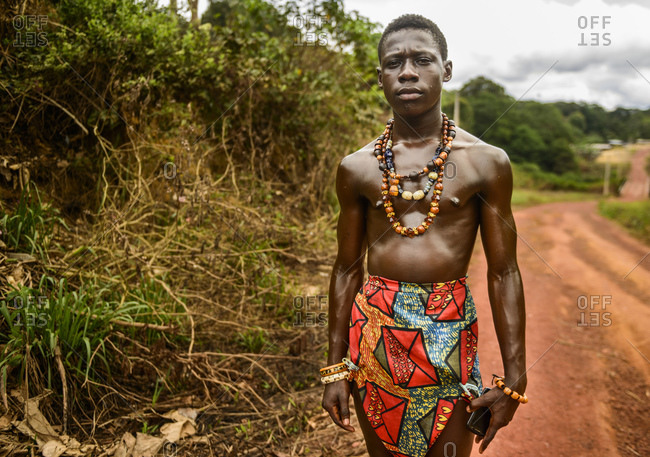 September 18, 2015: Adolescent a month before circumcision, Gabon, Central Africa