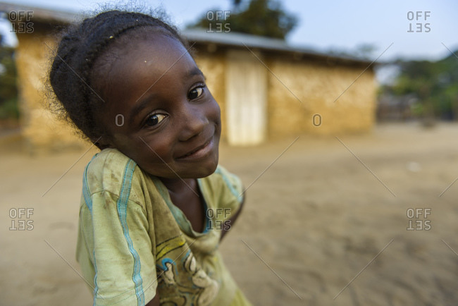 September 10, 2015: Girls from the Democratic Republic of the Congo, Africa