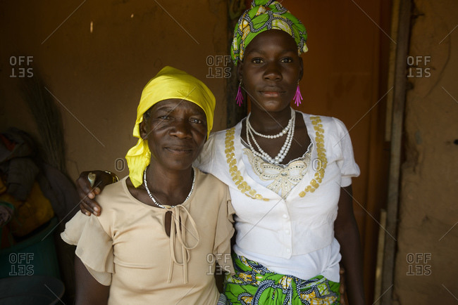 August 2, 2015: Angolan women in a village in the province of Zaire, Angola, Africa