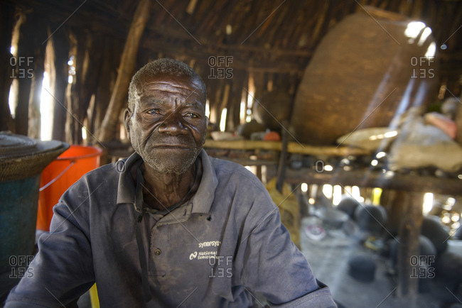 June 30, 2015: Man, indigenous tribal group from the province of Cunene, Angola, Africa
