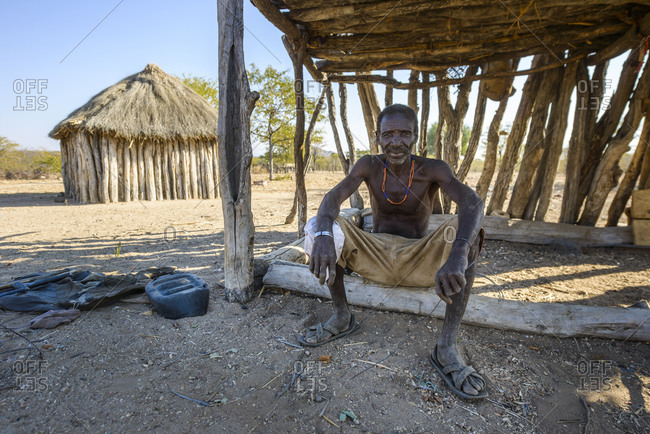 June 21, 2015: A man of the Mudimba people from the province of Cunene in southern Angola, Africa