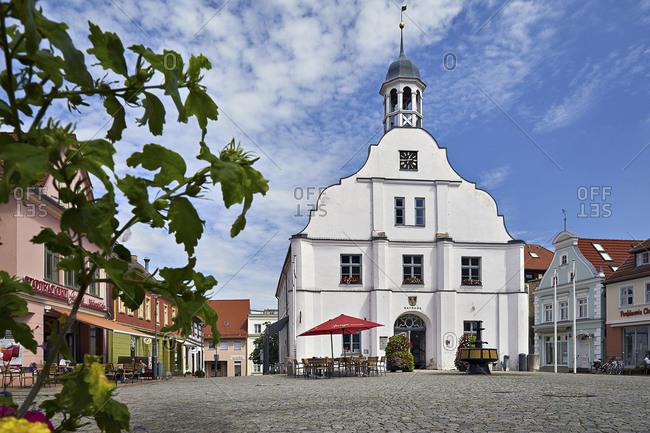 July 24, 2016: Old city hall in Wolgast, Mecklenburg-Western Pomerania, Germany