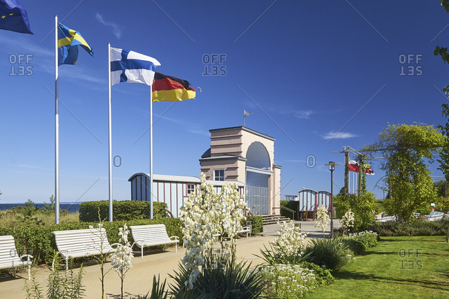 Beach promenade from Seebad Bansin, Usedom, Mecklenburg-West Pomerania, Germany