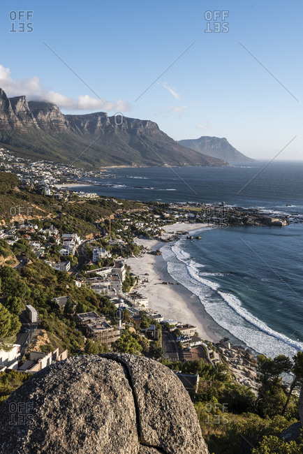 Evening mood, Clifton Beach, Bantry Bay, Cape Town, Western Cape, South Africa, Africa