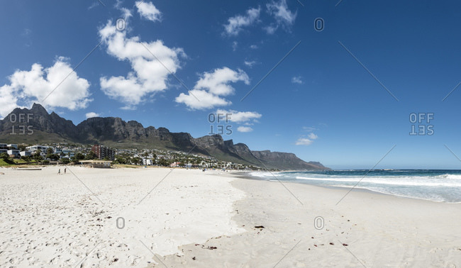 Panorama Camps Bay Beach, Cape Town, Western Cape, South Africa, Africa