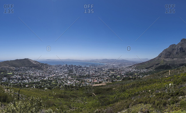 Panorama downtown, Cape Town, Western Cape, South Africa, Africa