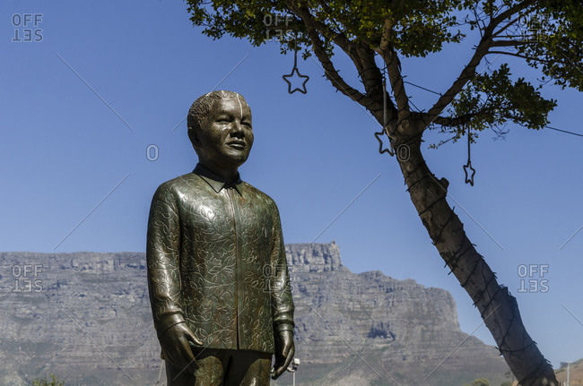 March 16, 2016: Nelson Mandela Monument, V&A Waterfront, Cape Town, South Africa, Africa