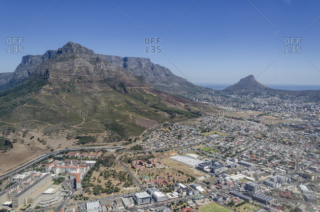 Aerial view, view of Cape Town, Western Cape, South Africa, Africa