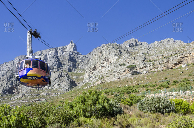 March 15, 2016: Table Mountain Cable Car, Cape Town, Western Cape, South Africa, Africa