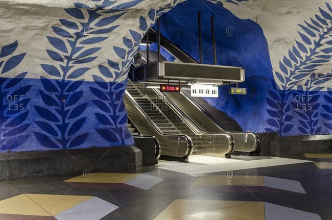 July 12, 2015: Metro station, Stockholm, Sweden