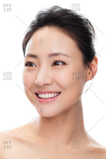 Young Asian woman wearing makeup