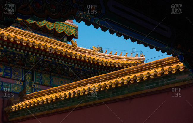 The Forbidden City exterior close up