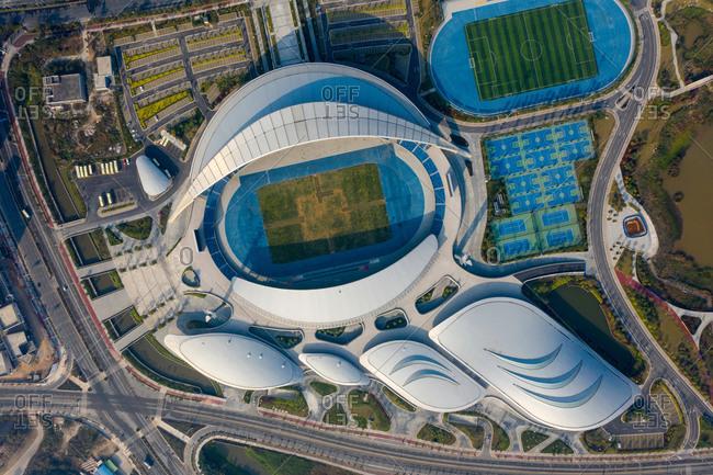 January 27, 2019: Jiangmen city, Guangdong province sports center