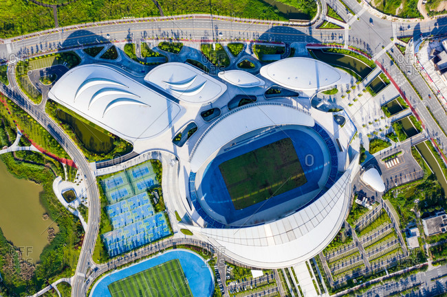 June 8, 2019: Jiangmen city, Guangdong province sports center