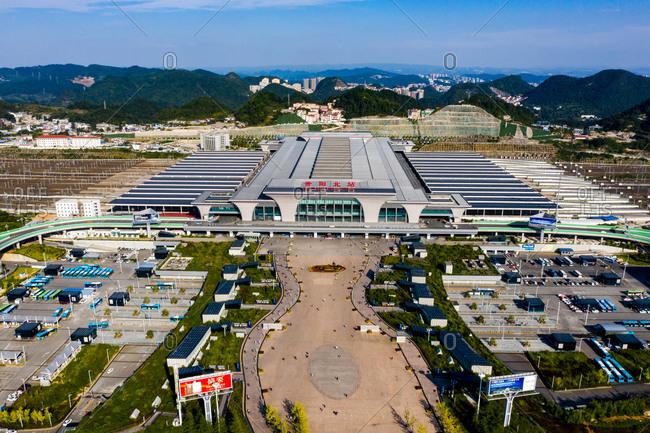 September 23, 2019: Guiyang railway station in Guizhou province