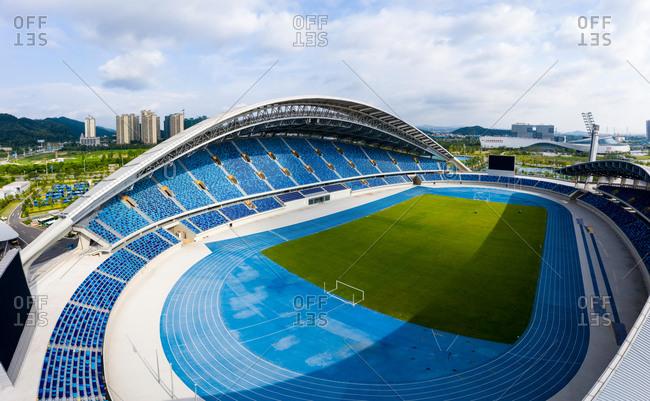 July 14, 2019: Jiangmen city, Guangdong province sports center