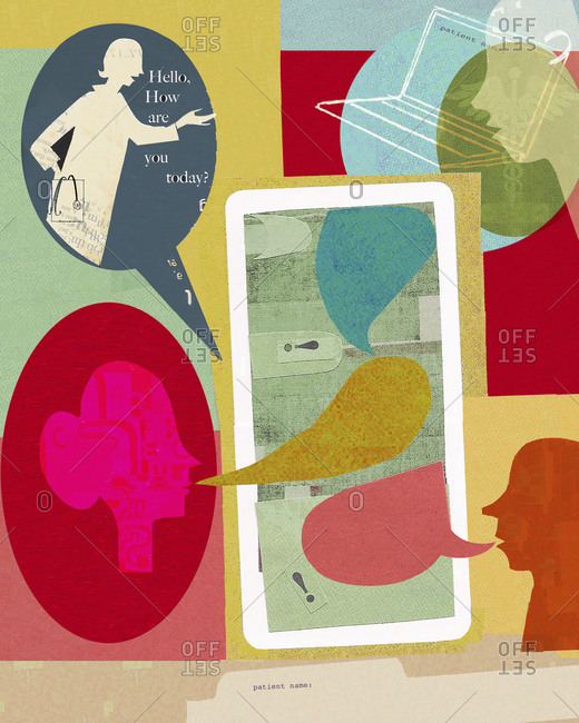Patients accessing virtual doctor online