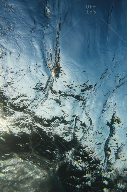Wave underwater view, Lombok, Indonesia