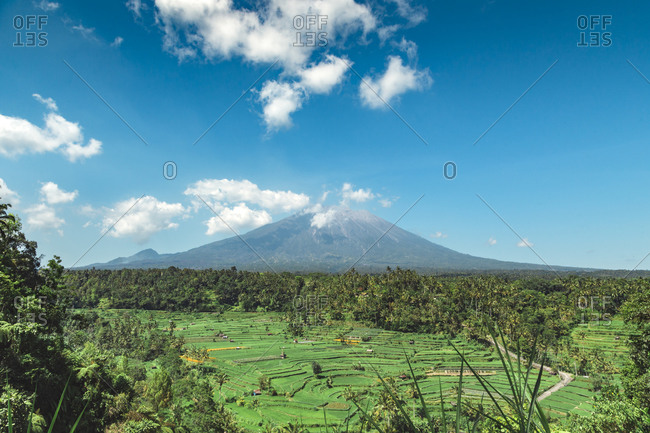 Volcano Agung, Bali, Indonesia - Offset
