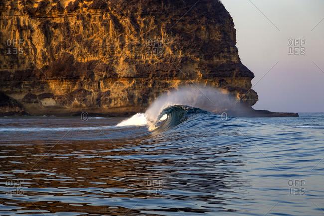 Wave in ocean, Kuta, Lombok, Indonesia