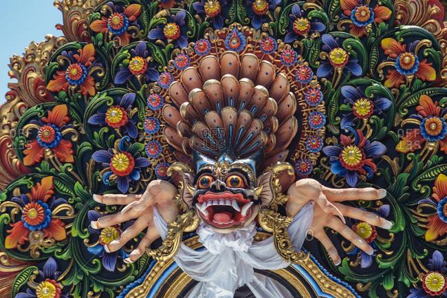 Sculpture of Hindu deity, Karangasem, Bali, Indonesia