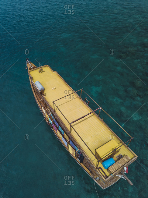 Passenger boat in sea, Amed, Bali, Indonesia