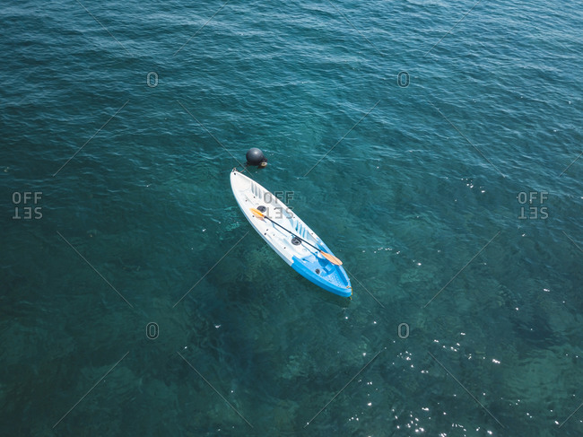Aerial view of empty kayak, Amed, Bali, Indonesia
