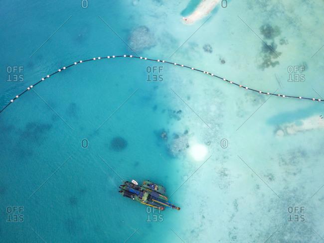 Ship in sea, Thulusdhoo, Male, Maldives
