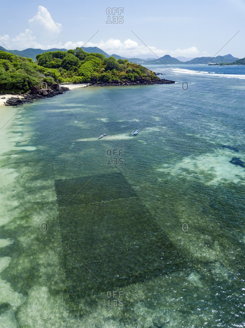 Aerial view of Sumbawa island, Indonesia