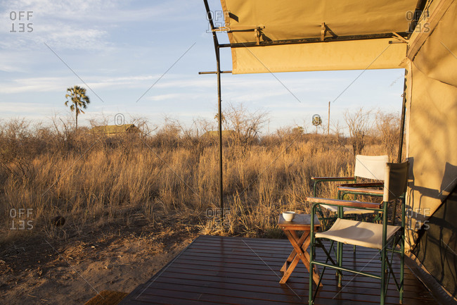 Tented camp in the Kalahari Desert
