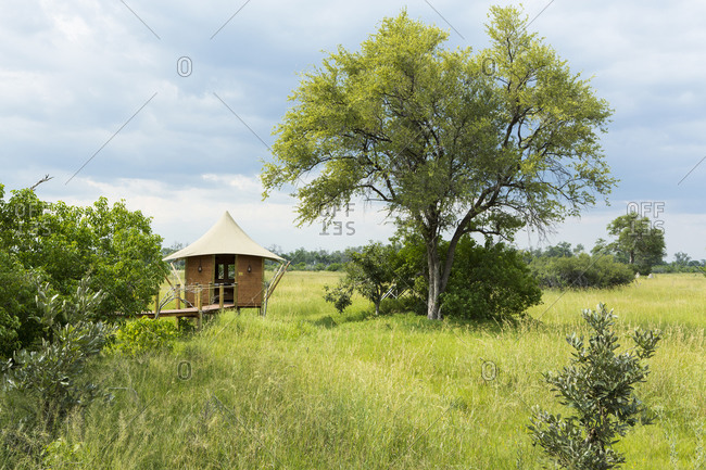 A tented bush camp, accommodation for safaris